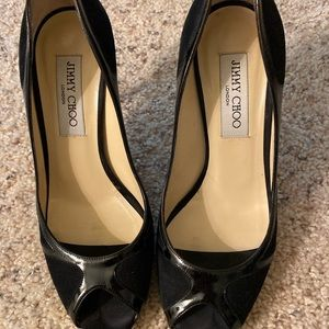 Black Jimmy Choo pumps